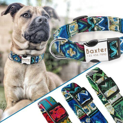 30319 kmijmj 510x510 - Halsband hond met naam en telefoonnummer nylon ruige patronen