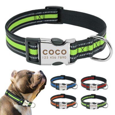 30357 kggp02 400x400 - Halsband hond met naam en telefoonnummer reflecterend