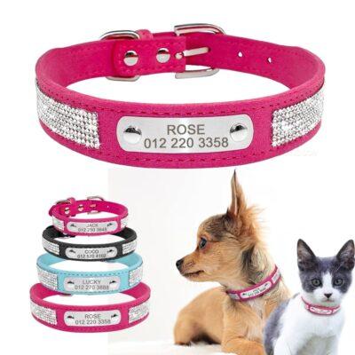 30399 4zkecr 400x400 - Halsband hond met naam en telefoonnummer van leer