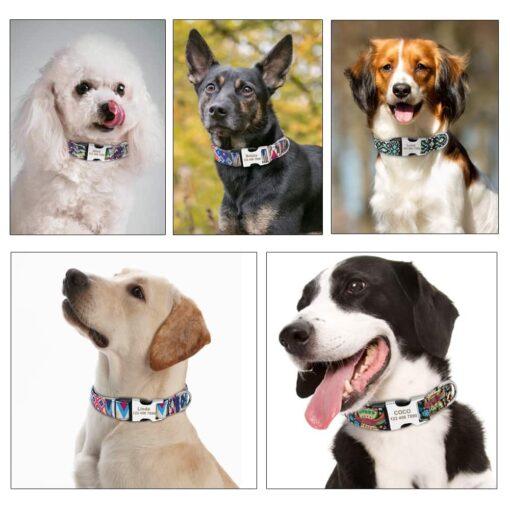 31497 9kofcd 510x510 - Halsband hond met naam en telefoonnummer en/of volledig adres nylon vrolijke motieven