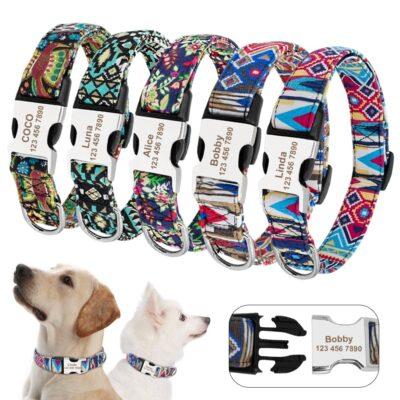 31497 ngwney 400x400 - Halsband hond met naam en telefoonnummer en/of volledig adres nylon vrolijke motieven