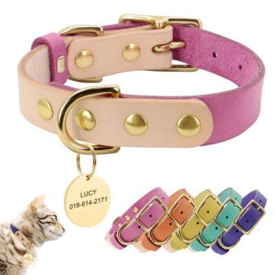 33379 wb2k9o 400x400 - Halsband hond met naam en telefoonnummer van leer