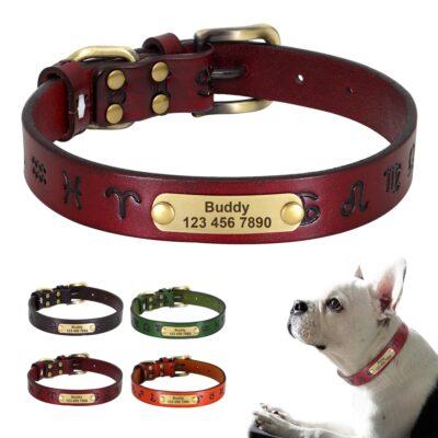 34439 av1fyc 400x400 - Halsband hond met naam en telefoonnummer van leer