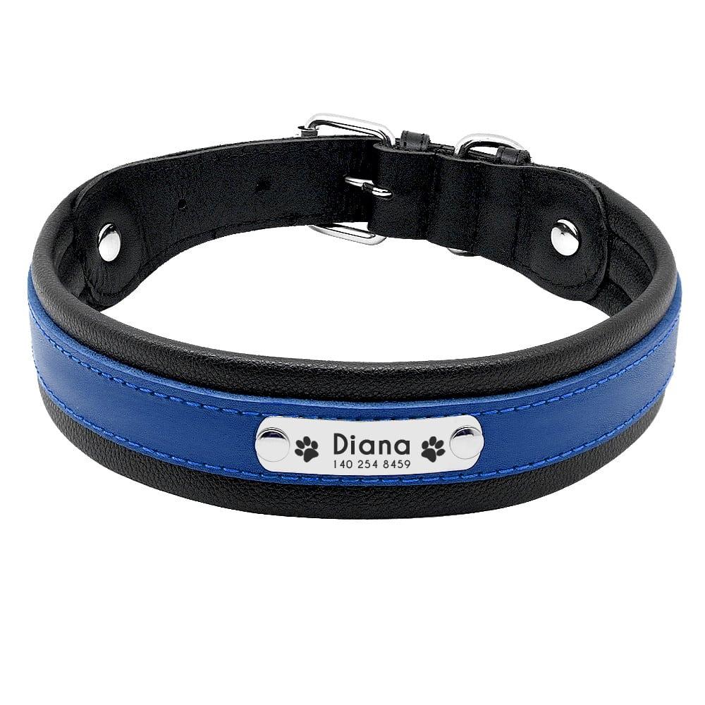 3db2ff9fcddf26134e89ee4e5f8d3c04 - Halsband hond met naam en telefoonnummer robuust