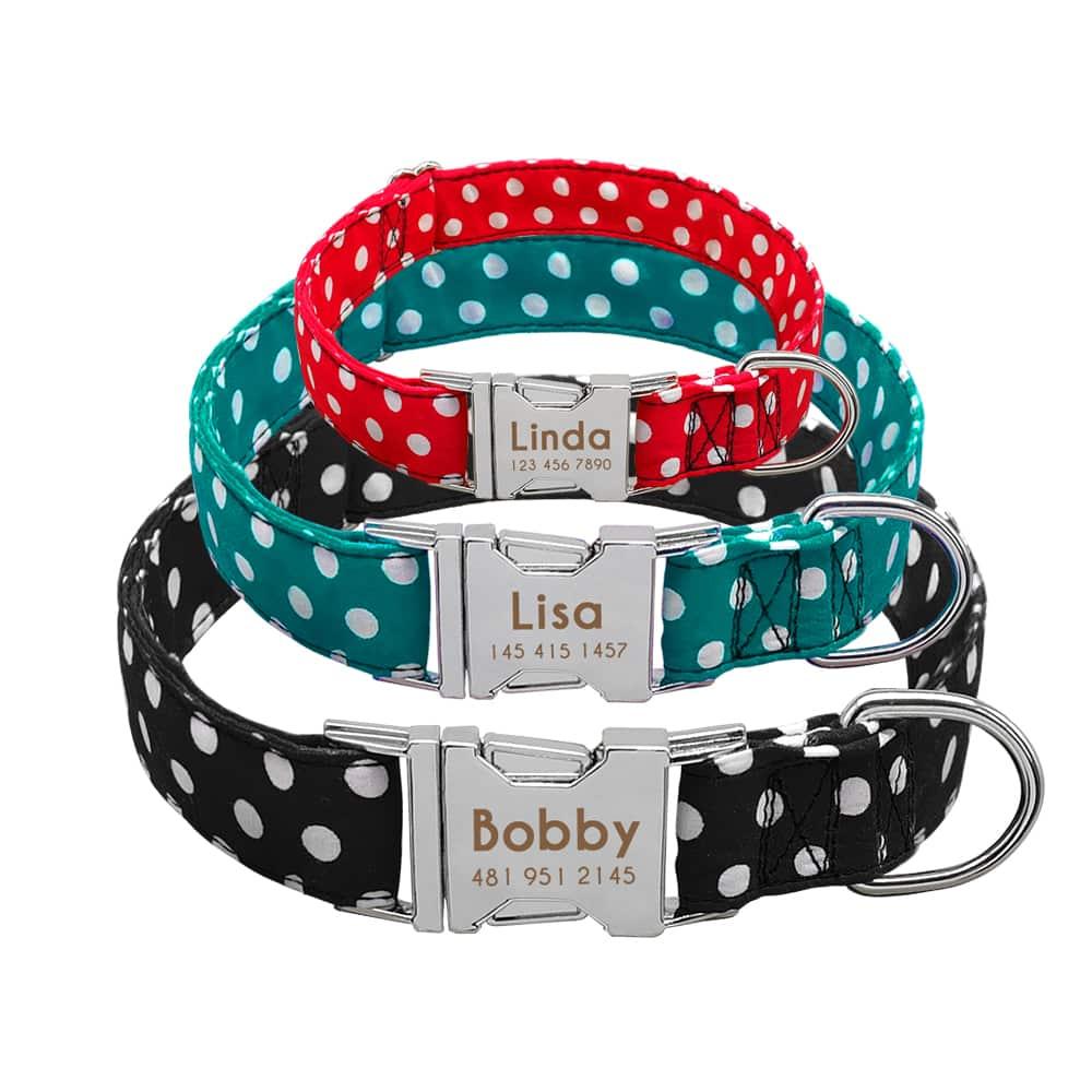 54a0ee65acd48b84033e9d82dd0efd02 - Halsband hond met naam en telefoonnummernylon3 kleuren