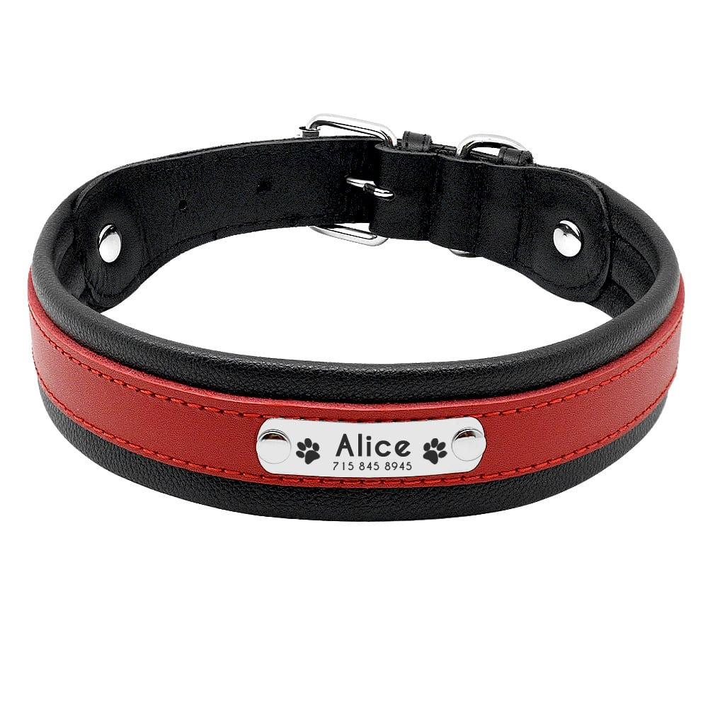 5cbdafa3f12118e26e44046ec8a8fedb - Halsband hond met naam en telefoonnummer robuust