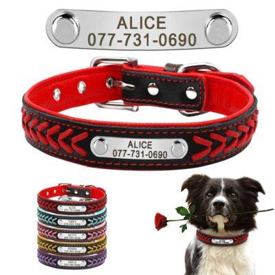 6200 ft0h02 400x400 - Halsband hond met naam en telefoonnummer leer gevlochten