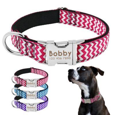 6685 wn4epq 400x400 - Halsband hond met naam en telefoonnummer zigzag motief