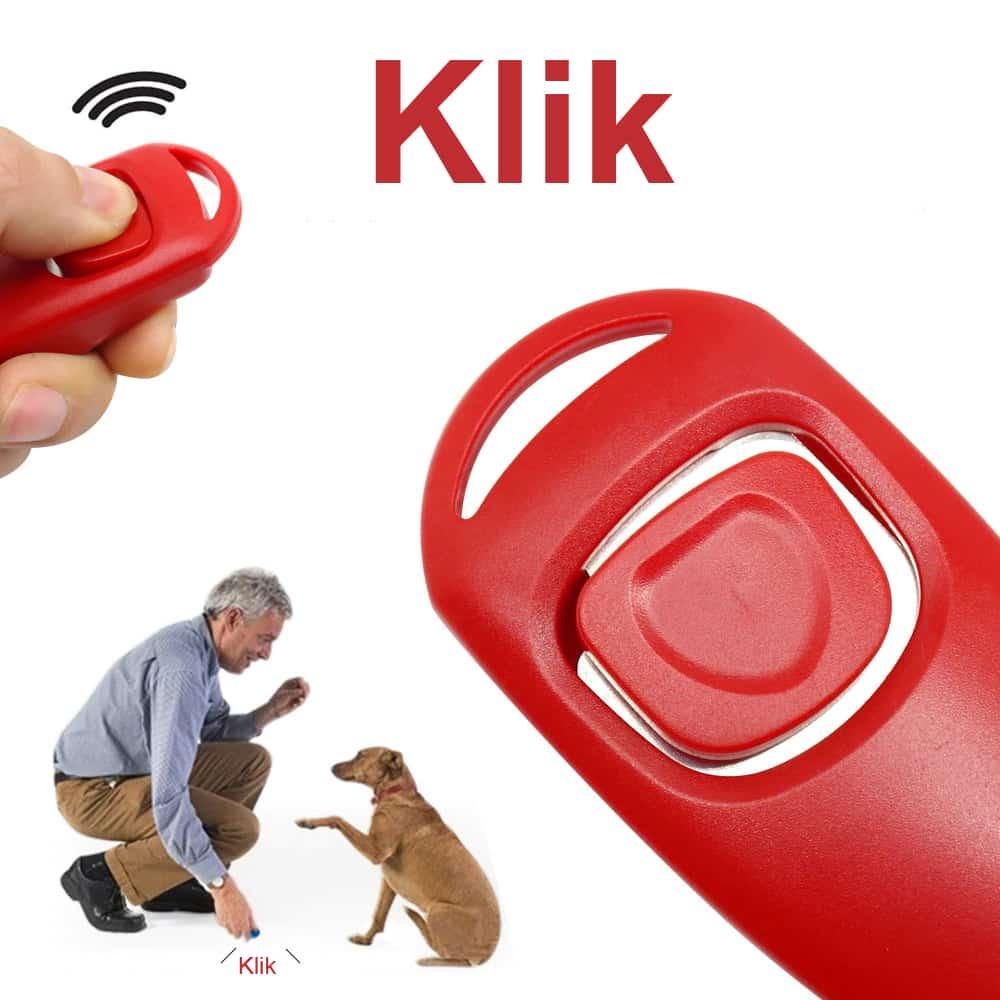 Fluitje02 - Puppy en hond trainingshulp fluitje met klikker gemengde kleur
