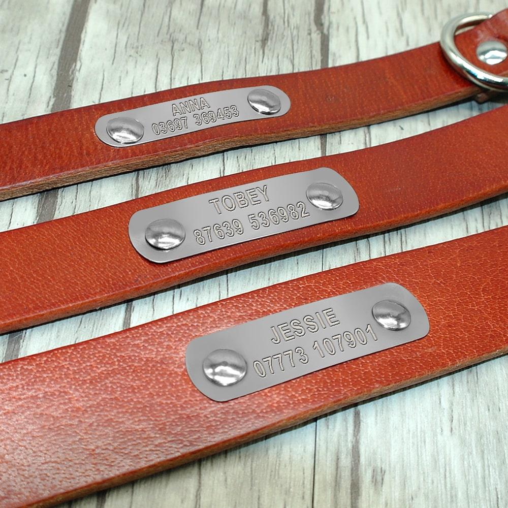 c7b5334a685f07666400b35c1724a15c - Halsband hond met naam en telefoonnummer zilveren naamplaat